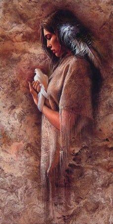 Lee Bogle Embracing Peace #LeeBogle #NativeAmerican Embracing Peace