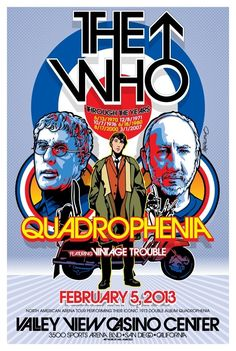 Commemorative Poster created for Quadrophenia San Diego concert Vintage Concert Posters, Retro Posters, Art Posters, Illustrations Posters, Movie Posters, Df Mexico, Rock Band Posters, Music Flyer, Music Pics
