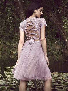 0b39d71c6aa A-Line Bateau Short Sleeves Lilac Tulle Homecoming Dress with Lace