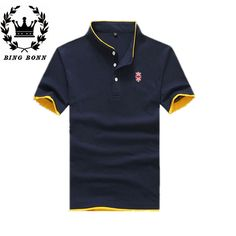 Find More Polo Information about 2015 BINGBONN Fashion Men Polos Black/Green/Yellow/Khaki 4 Colors  High Quality Plus Size Cotton Material Short Sleeve Summer,High Quality polo outlet,China polo supplier Suppliers, Cheap materials mit from Leisure Time. on Aliexpress.com