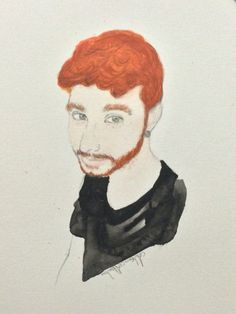 Ginger Boy Watercolour Painting