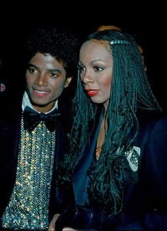 Donna Summer and Michael Jackson during the Off the Wall era... love her braids!