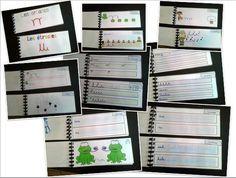 Geste d'écriture Carnets de gestes (boucles, étrécies, horloges, arcades)