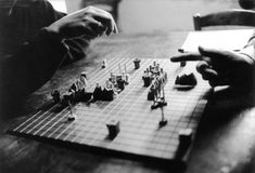 Guy Debord and Alice Becker-Ho play the Game of War, Photo Jeanne Cornet. Guy Debord, Situationist International, Dangerous Minds, Just A Game, Warfare, Board Games, Alice, Jeanne, Service