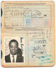 Writer James Baldwin's passport. | 29 Must-See Items At The New Smithsonian Museum Of African American History - BuzzFeed News
