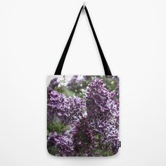 Lilac flowers Tote Bag by VanessaGF | Society6   #Lilac, #purple, #nature, #flowers, #photography ,#bag, #totebag