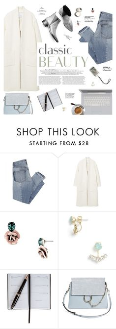 """""""Classic beauty"""" by honestlyjovana ❤ liked on Polyvore featuring Mix Nouveau, MANGO, Acne Studios, Smythson, Chloé, Haute Hippie and imthankfulfor"""