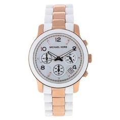 Amazon.com: Michael Kors Women's MK5464 Runway White Watch: Michael Kors: Watches