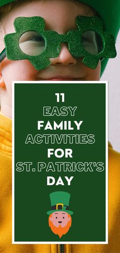 Looking for easy family activities for St. Patrick's Day? Finding easy family activities for St. Patrick's Day can be difficult. That's why I've put together this list of 11 easy family activities for St. Patrick's Day. Whether you're looking for st patricks day activities for adults or st patricks day activities for kids and preschoolers. This list contains a little bit of both! #stpatricksdayactivities #stpatricksdayactivitiesforkids #stpatricksdayactivities #stpatricksdayfamilyactivities