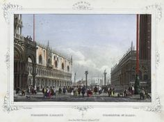 Venezia, Piazzetta San Marco (National Library of Poland - 1847, lithography)