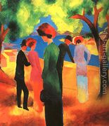 Woman in a Green Jacket 1913  by August Macke