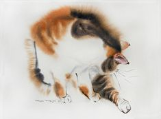 """Saatchi Art Artist Olga Flerova; Painting, """"November's cat"""" #art"""