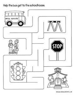 Transportation Worksheets For Preschool Creative Curriculum, Preschool Curriculum, Preschool Worksheets, Kindergarten Activities, Educational Activities, Transportation Theme Preschool, Transportation Worksheet, School Bus Safety, English Activities