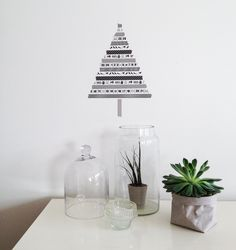 Washi tape Christmas tree at http://diydiyblogi.blogspot.fi/