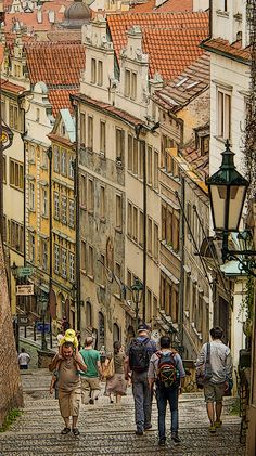 The Old Castle Stairs in Prague_ Czech Republic