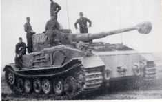 From the first Porsche prototypes, only one SdKfz 181 PzKpfW VI (P) saw action on the Eastern front in Galicia (south-eastern territories of the first Polish Republic, not to be confused with the NW Spanish province), from early to mid 1944, with the Schwerer Panzer Jäger Abteilung 653 as Pz.Bef.Wg.(Panzer Befehls Wagen - Armored Command Car)turret facing rearward.