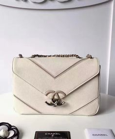 f0d460172c14 Women's Fashion #Chanel Large Chevron Flap Bag A93775. Big Discount For  Chanel New Arrival