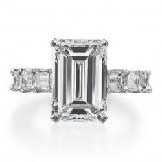 April 7th Ring of the Day. Beautiful Emerald Cut Ring. Available at Alson Jewelers.
