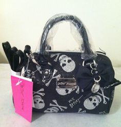 Betsey johnson spark skull mini speedy satchel cross body purse nwt $38