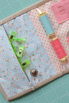 Vanessa Goertzen of Lella Boutique and Fat Quarter Shop have just kicked off a sew-along for a lovely portable binding kit, and I have bee...