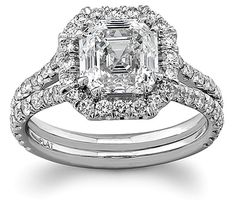 Ring of my DREAMS!!! !!! halo asscher cut