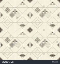 Abstract geometric seamless pattern on texture background in beige and brown colors. Endless pattern can be used for ceramic tile, wallpaper, linoleum, textile, web page background.