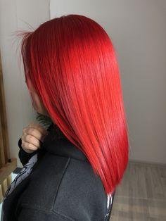Vivid Hair Color, Bright Red Hair, Beautiful Hair Color, Hair Dye Colors, Cool Hair Color, Burgundy Hair Dye, Dyed Red Hair, Dye My Hair, Medium Hair Styles