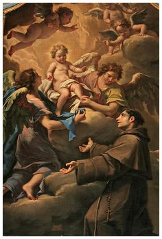 Apparition of the Infant Jesus to Saint Anthony of Antonio Arrigoni, Church of St. Stephen        Vicenza