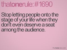 that is so me the other way round....i mean i am one of those people who don't even deserve an audience seat... : 