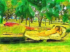 ARTES, DESARTES E DESASTRES CONTEMPORÂNEOS. Maja desnuda descansando no Ibirapuera Arte digital 0,60 x 0,80