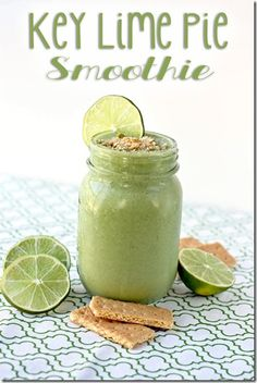 Healthy Key Lime Pie Smoothie: ■1 cup almond milk ■1 frozen banana ■½ cup baby spinach leaves ■1 Tbsp lime juice ■Zest of 1 lime ■½ tsp vanilla extract ■1 Tbsp crushed graham crackers