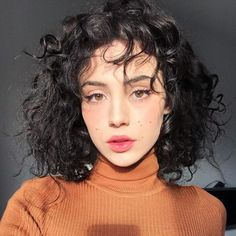 47 Cute Curly Hairstyles Design Ideas for Teenage in 2019 - Hairstyle - Cute Curly Hairstyles, Undercut Hairstyles, Short Curly Hair, Hairstyles With Bangs, Curly Hair Styles, Gorgeous Hairstyles, Retro Hairstyles, Latest Short Haircuts, Popular Haircuts