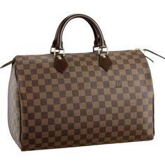 Louis Vuitton Damier Ebene Canvas Speedy 35 N41523 Akg-$210