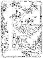 coloring page Alphabet fairies