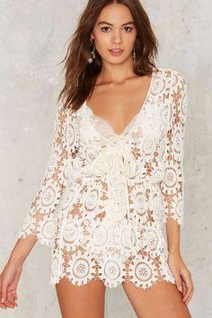 Coraline Crochet Mini Dress