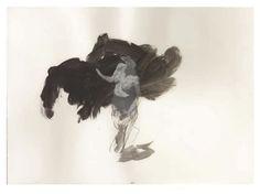 Ruprecht von Kaufmann, Das Pferd aus Troya (Studie 1), 2014 Gouache auf Papier 26 x 37 cm