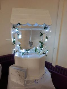 White Wooden Wishing Well Post Box Wedding To Hire More