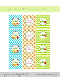 very hungry caterpillar printable party tags