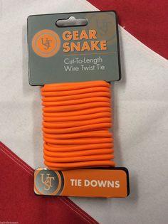 GearSnake wire twist tie emergency tactical disaster survival USTorange tie down
