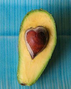 Heart shaped avocado pit