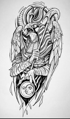 Osiris Tattoo, Horus Tattoo, Anubis Tattoo, Arm Tattoos For Guys, Leg Tattoos, Black Tattoos, Body Art Tattoos, Egyptian Tattoo Sleeve, Wolf Tattoo Sleeve