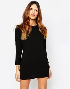 Asos Cowl Back Dress in Black