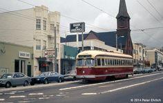 MUNI PCCs--1188 appr Church/Market OB (1974) 1188 was formerly Toronto 4775.