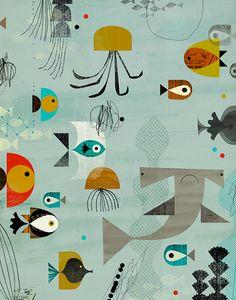Aquatic.2 11x14 par DanteTerzigni sur Etsy, $40.00