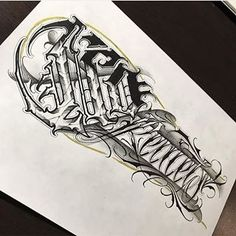 Made by or tag to get a feature! Chicano, Graffiti Lettering, Typography, Dibujos Tattoo, Foto E Video, Photo And Video, Hand Tattoos, Alphabet, How To Draw Hands