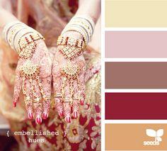 Embellished hues.