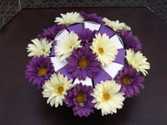 purple and white flower centerpieces - Google Search