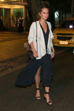Alicia Vikander - Leaving Satyricon Restaurant in Rio de Janeiro - May 28, 2016