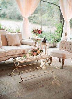 vintage furniture for wedding reception seating / http://www.deerpearlflowers.com/wedding-reception-lounge-ideas/