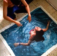 Hyper Realistic Water Painting by Gustavo Silva Nunes
